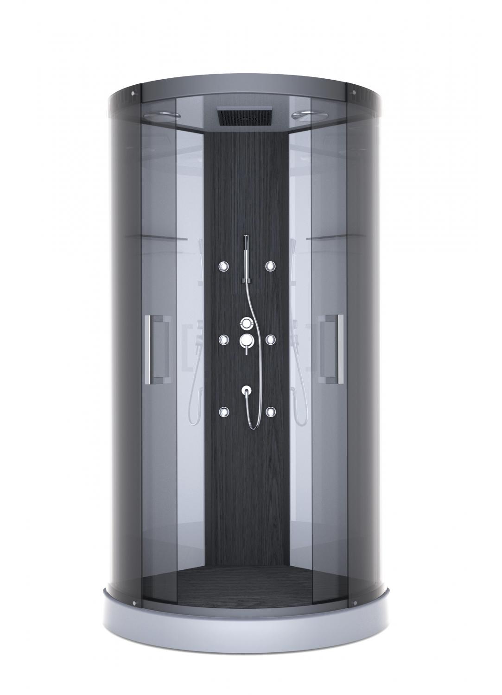 cabine de douche pure round gris anthracite homebain vente en ligne cabines de douche. Black Bedroom Furniture Sets. Home Design Ideas