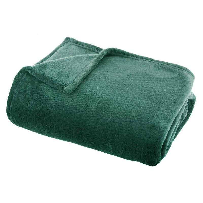 Plaid polaire effet flanelle (Vert)