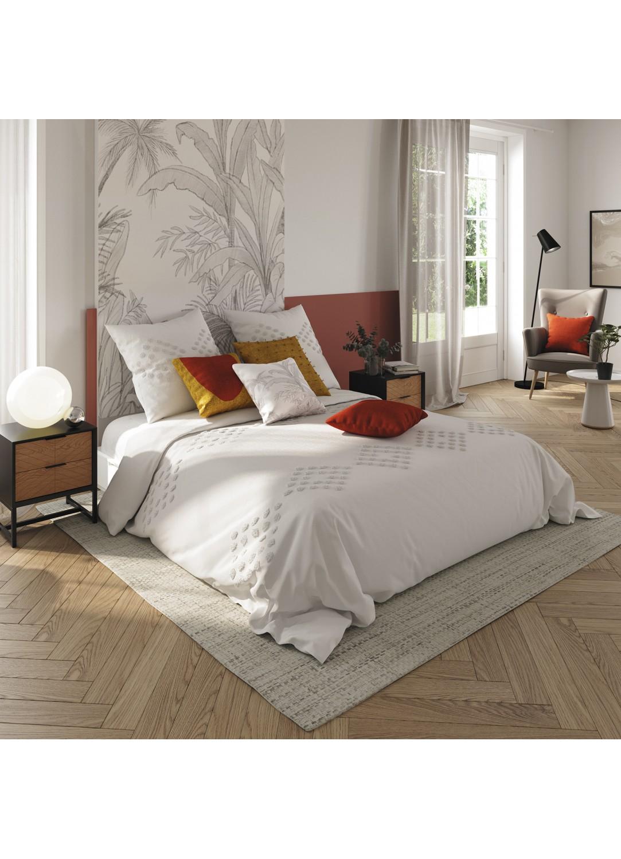 Parure de lit en coton lavé (Ivoire)