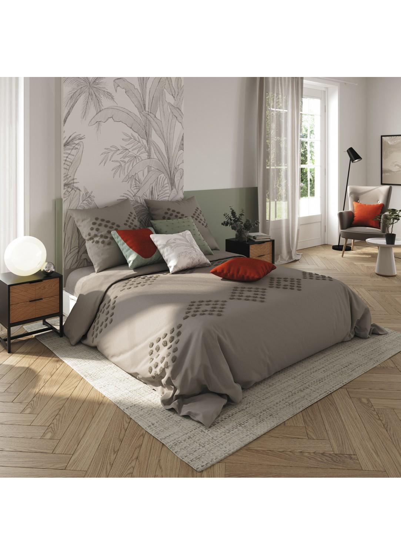 Parure de lit en coton lavé (Gris)