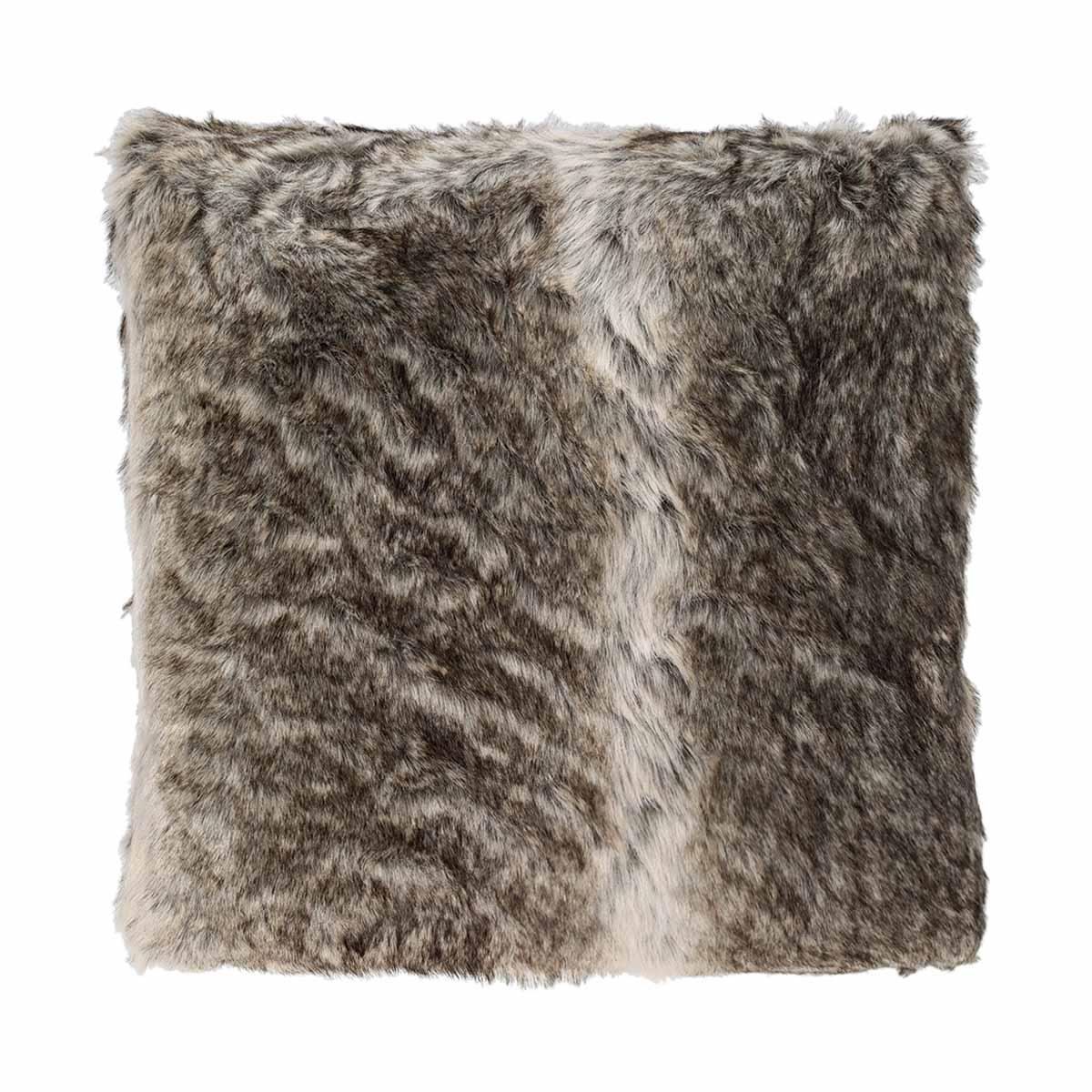 coussin fourrure gris homemaison vente en ligne coussins standards. Black Bedroom Furniture Sets. Home Design Ideas