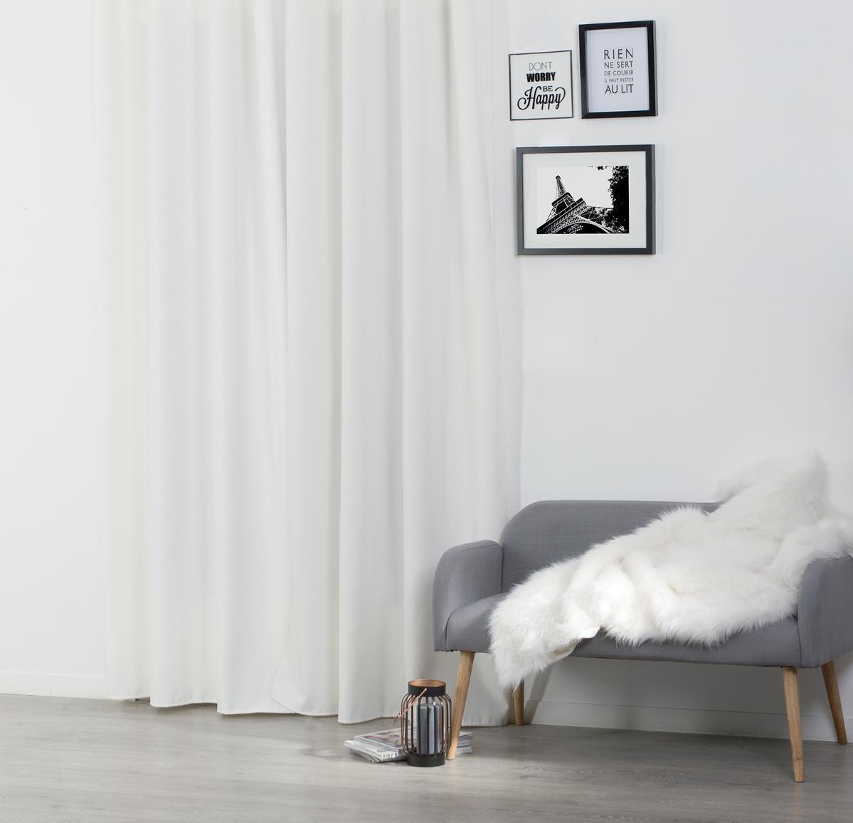 rideau isolant uni oeillets ivoire noir rouge taupe gris homemaison vente en. Black Bedroom Furniture Sets. Home Design Ideas