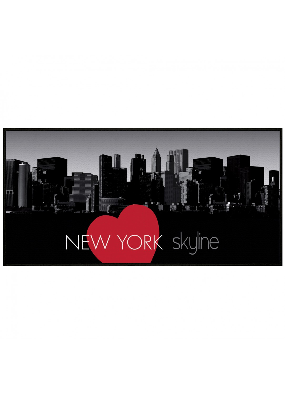 Tapis rectangulaire en polyamide imprim new york - Tapis deco new york ...