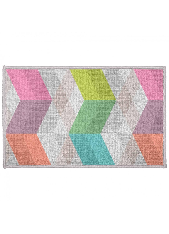 Tapis rectangulaire en polyamide imprim s graphiques pastel homemaison - Tapis couleur pastel ...
