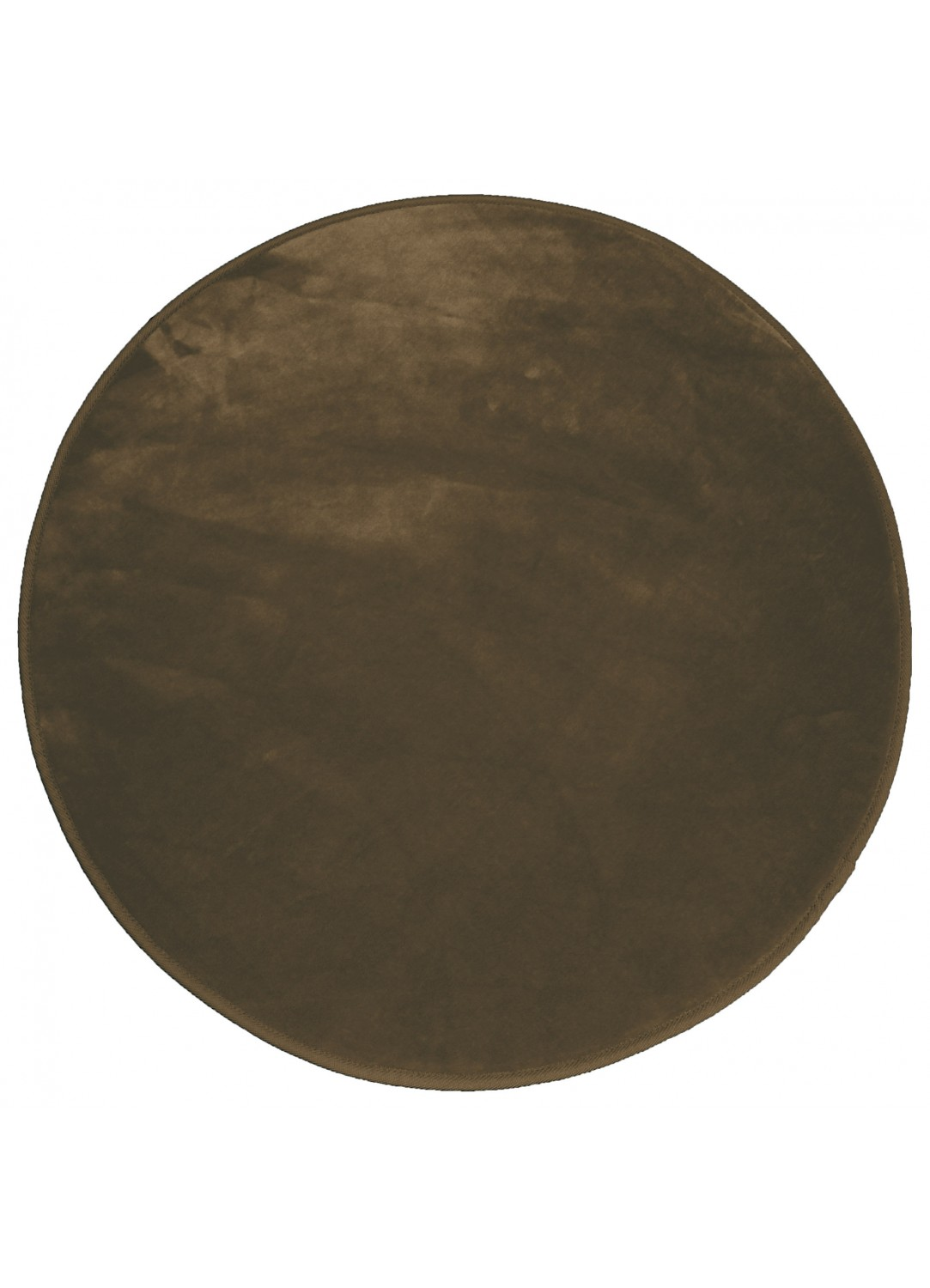 tapis rond en velours uni choco homemaison vente en ligne tapis d co. Black Bedroom Furniture Sets. Home Design Ideas