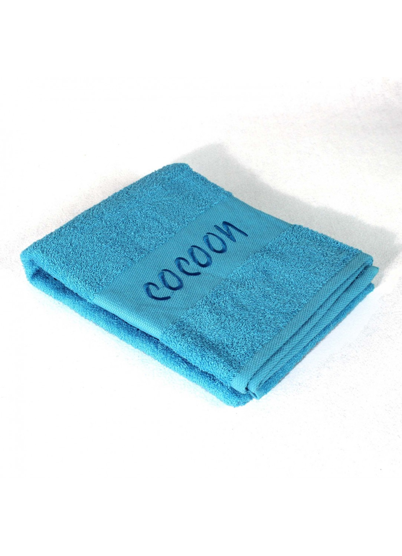 drap de bain en eponge brod e cocoon turquoise. Black Bedroom Furniture Sets. Home Design Ideas