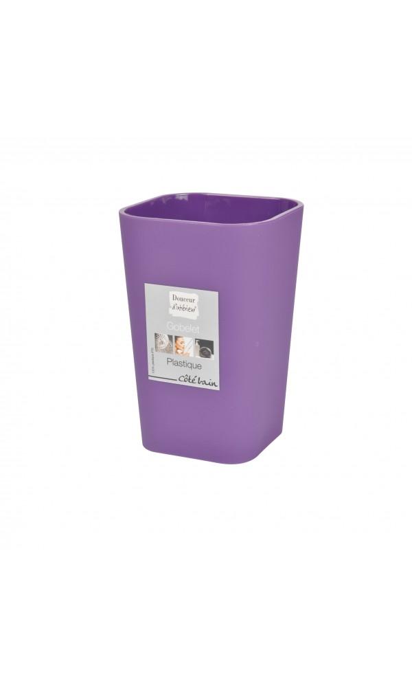 gobelets violets homebain vente gobelets violets pas cher. Black Bedroom Furniture Sets. Home Design Ideas
