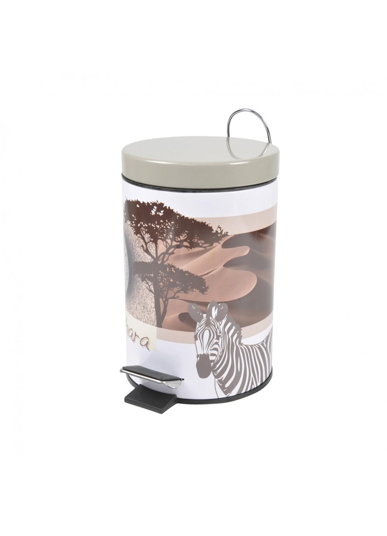 poubelle de salle de bain design en m tal blanc blanc. Black Bedroom Furniture Sets. Home Design Ideas