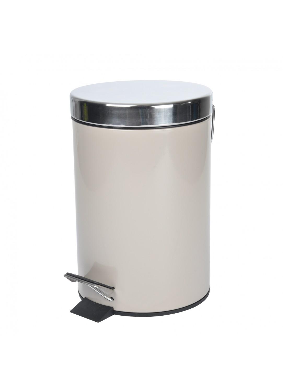 poubelle de salle de bain tendance en m tal blanc bleu rose poudre taupe bleu oc an. Black Bedroom Furniture Sets. Home Design Ideas