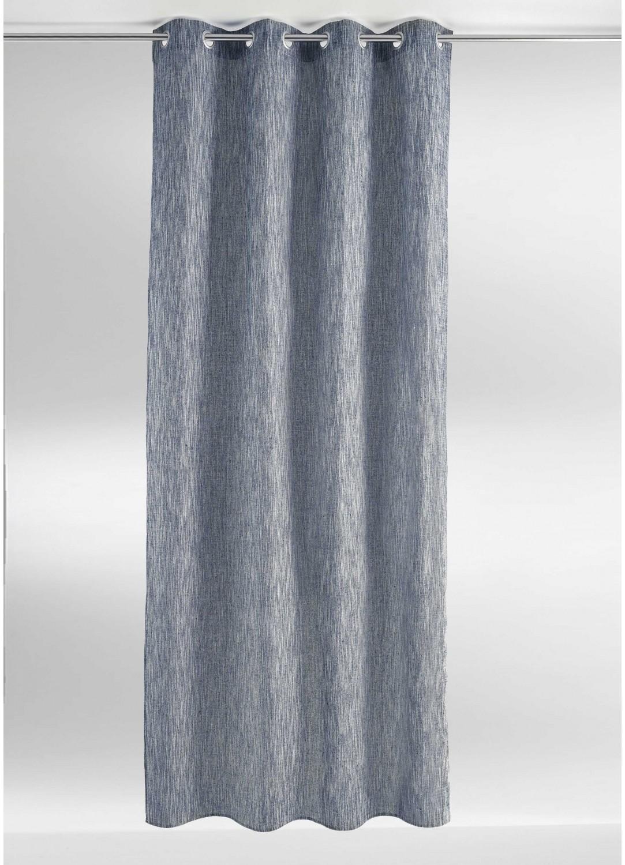 Rideau uni en coton chin bleu anthracite - Rideau gris chine ...