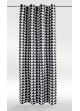 Rideau en Pur Coton à Imprimés Triangulaires  Noir