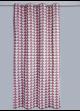 Rideau en Pur Coton à Imprimés Triangulaires  Rose Boudoir