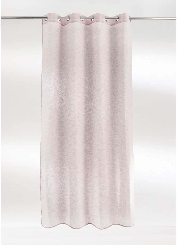 voilage uni en etamine effet lin rose naturel grise bleu anthracite homemaison. Black Bedroom Furniture Sets. Home Design Ideas