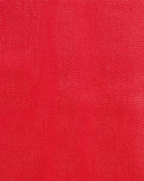 Tissu en Simili Cuir - Rouge - 1.4 m