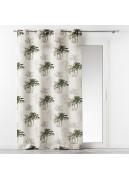 Rideau d'ameublement aux palmiers verdoyants