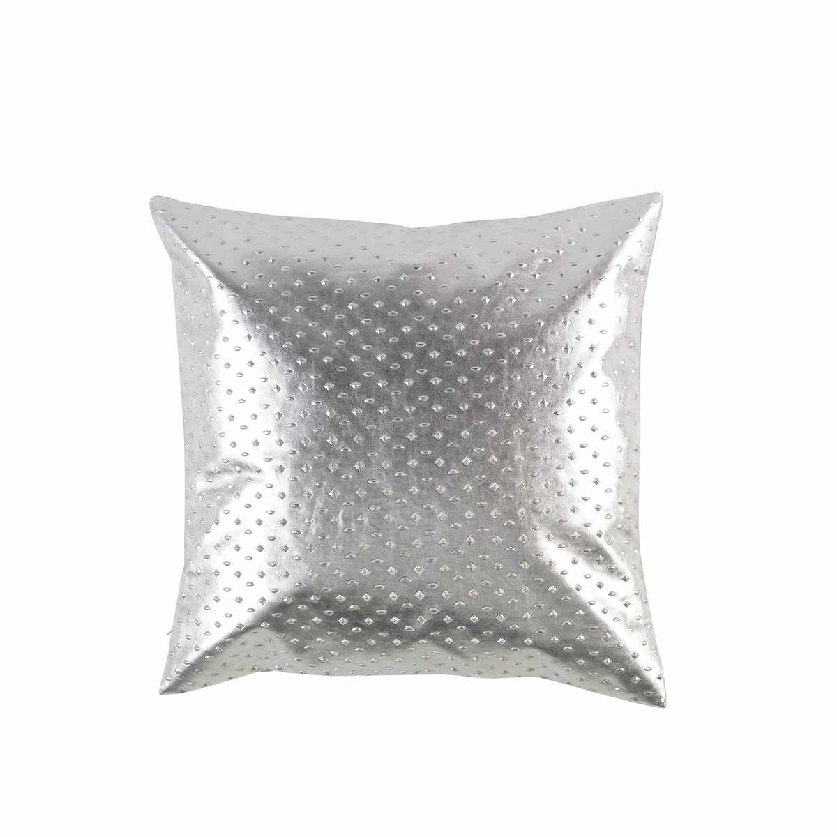Coussin déhoussable effet métallisé en relief (Or)