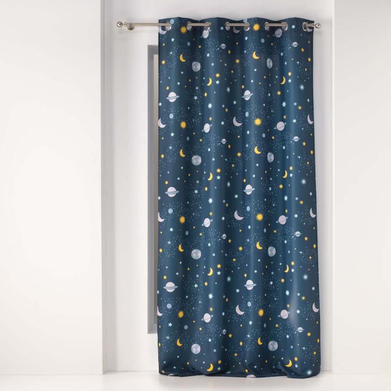 Rideau petit astronaute  (Bleu)