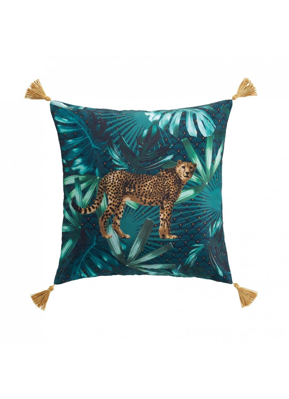 Coussin jungle avec guépard  (Multicolors)