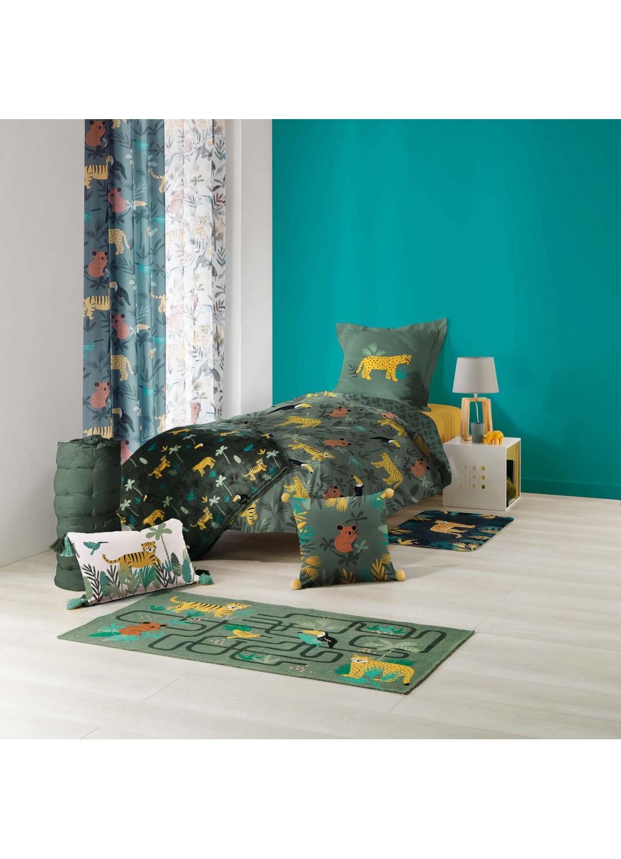 Parure de couette imprimé jungle (Multicolors)