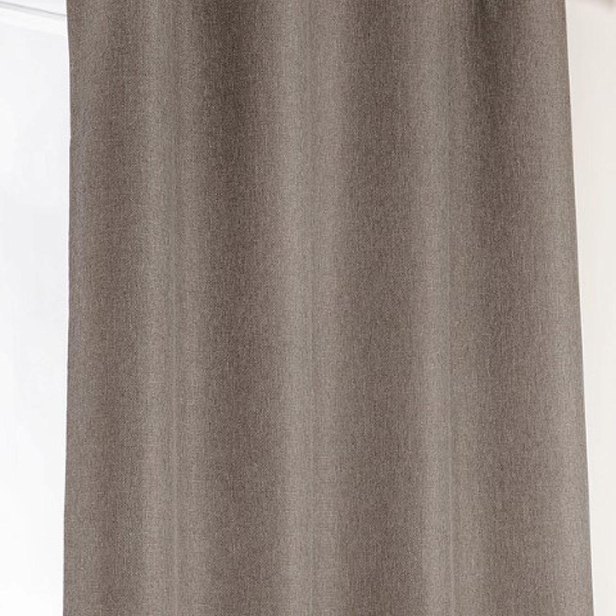 Rideau occultant à galon fronceur - Taupe - 140 x 240 cm