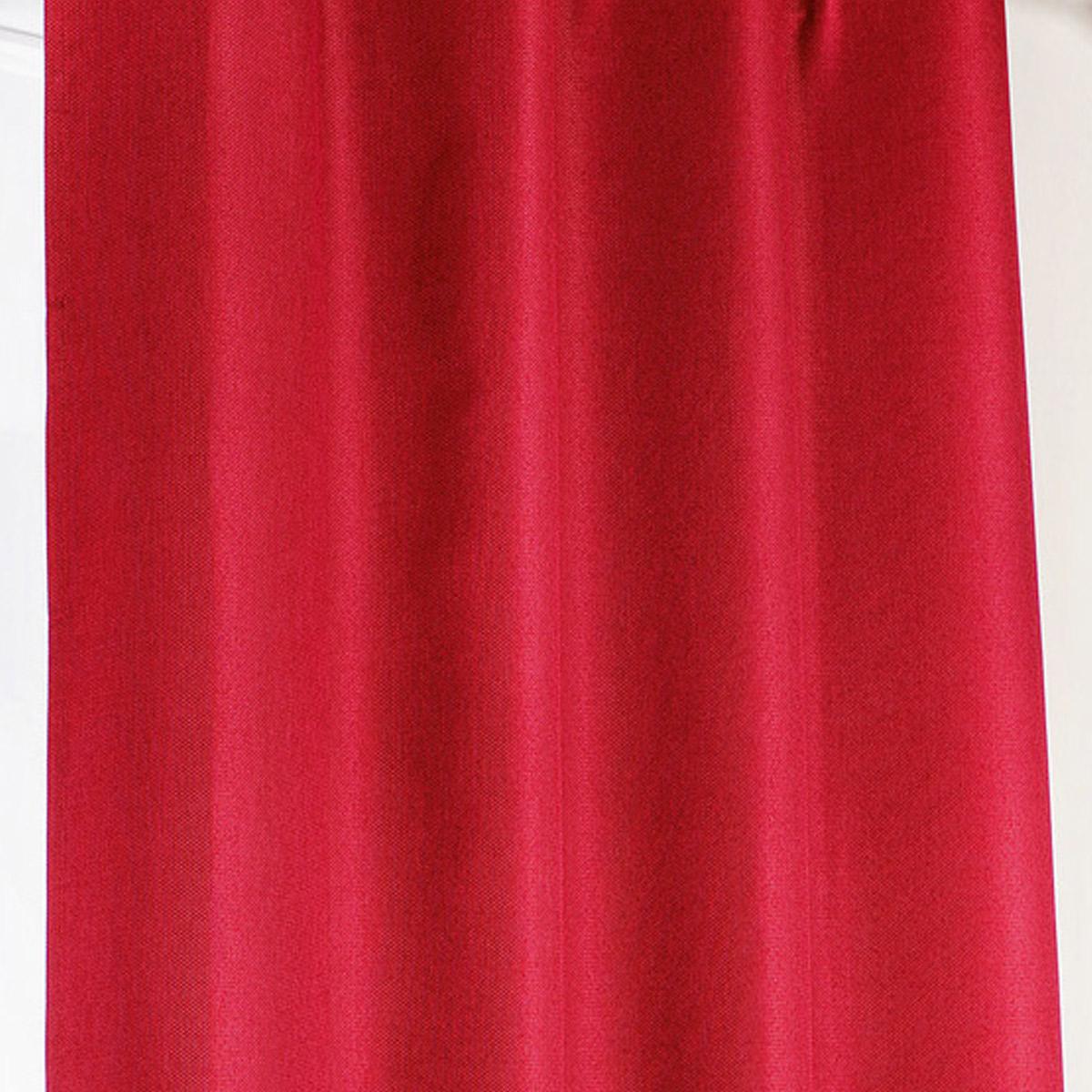 Rideau occultant à galon fronceur - Rouge - 140 x 240 cm