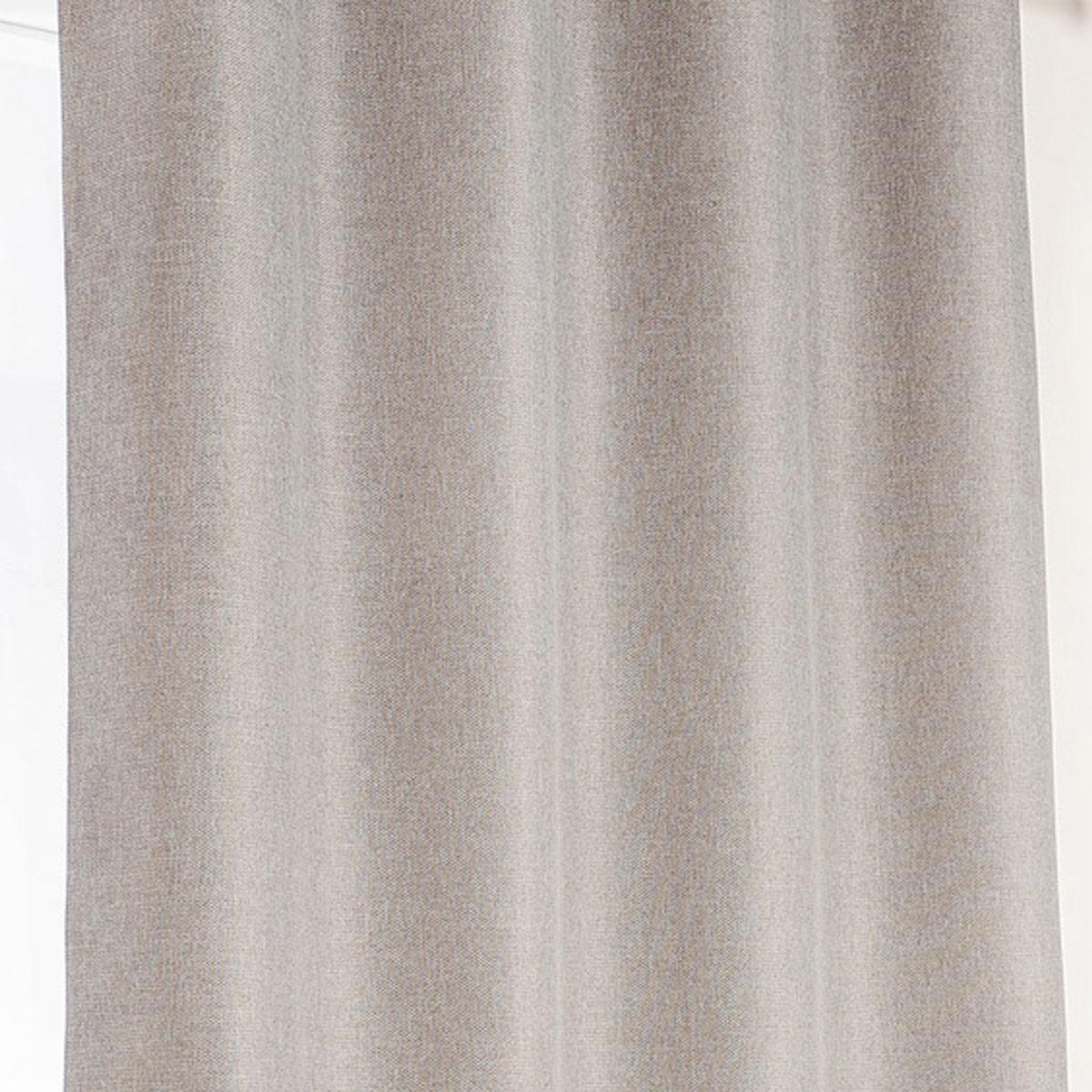 Rideau occultant à galon fronceur - Gris clair - 140 x 240 cm