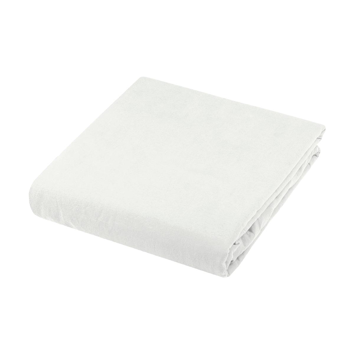 Housse de couette en coton lavé uni (Blanc)
