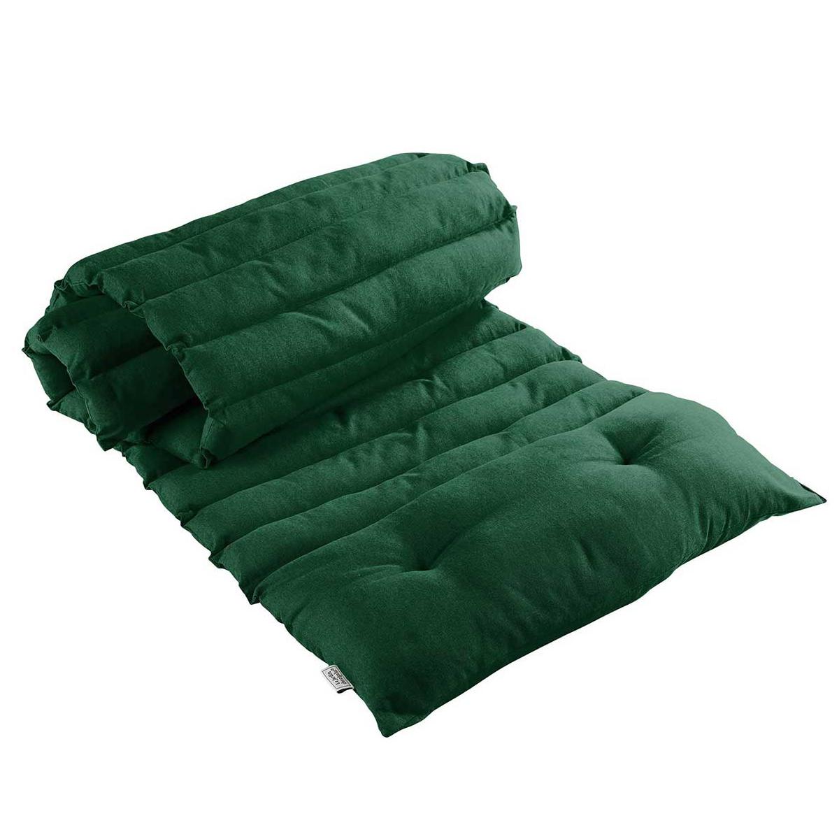 Bain de soleil en coton uni - Vert - 60 x 180 cm