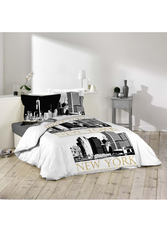 parure de lit imprim e new york multicolors. Black Bedroom Furniture Sets. Home Design Ideas