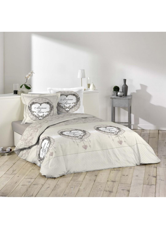 parure de lit imprim e maison de r ve multicolors. Black Bedroom Furniture Sets. Home Design Ideas