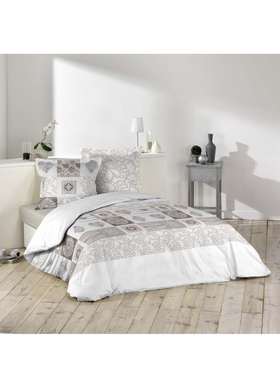 parure de lit imprim e dentelles multicolors homemaison vente en ligne parures de lit. Black Bedroom Furniture Sets. Home Design Ideas