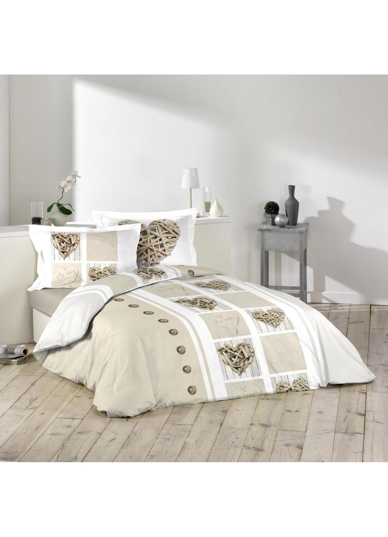 parure de lit imprim e love zen multicolors homemaison vente en ligne parures de lit. Black Bedroom Furniture Sets. Home Design Ideas