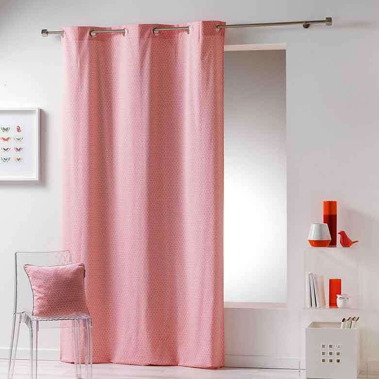 rideau avec motif g om trique corail indigo menthe gris jaune anthracite. Black Bedroom Furniture Sets. Home Design Ideas