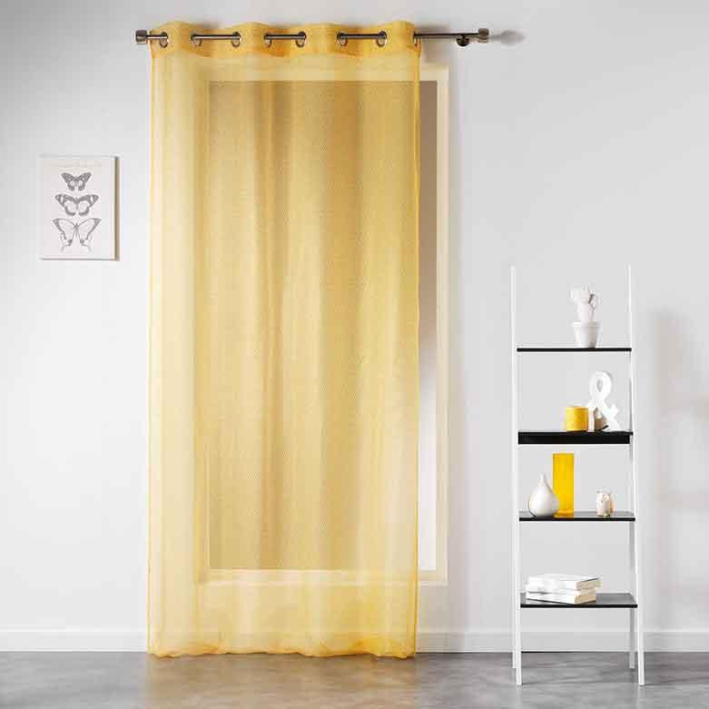 voilage avec motif g om trique jaune indigo corail menthe gris anthracite. Black Bedroom Furniture Sets. Home Design Ideas