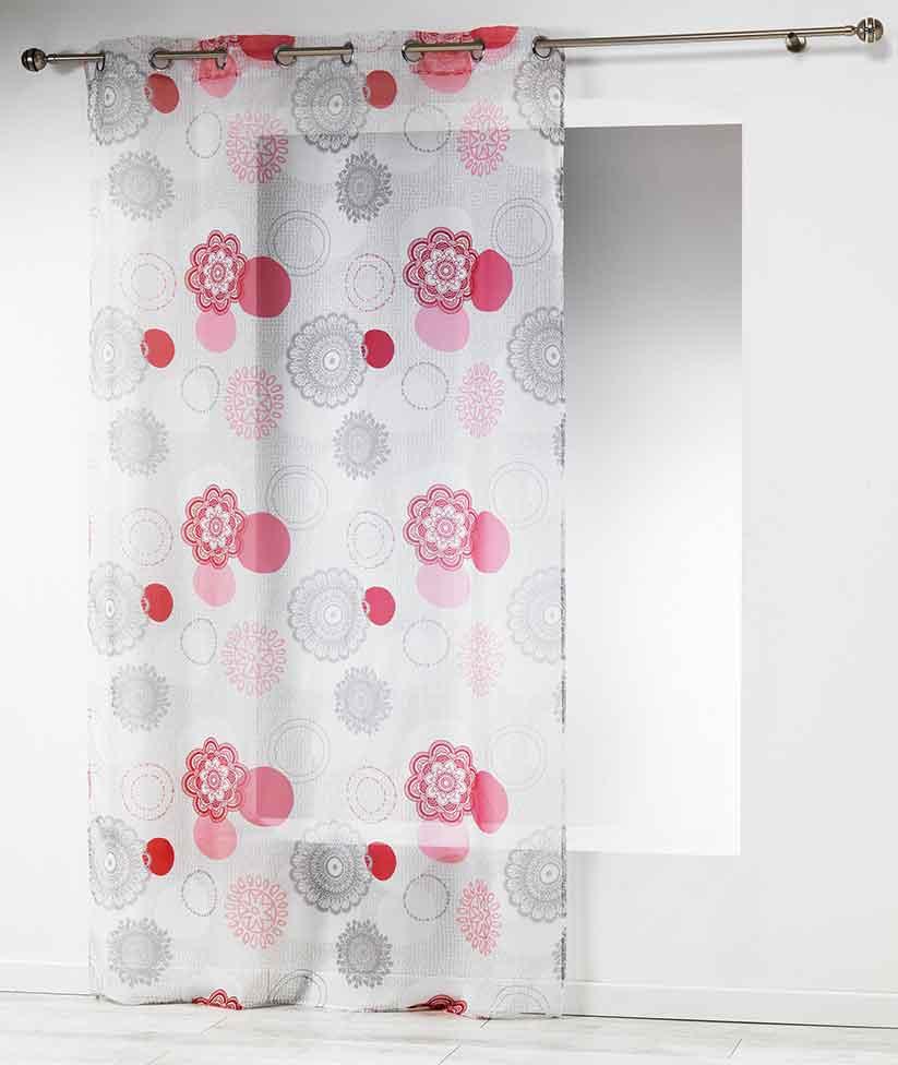 voilage imprim mandalas sans homemaison vente en. Black Bedroom Furniture Sets. Home Design Ideas