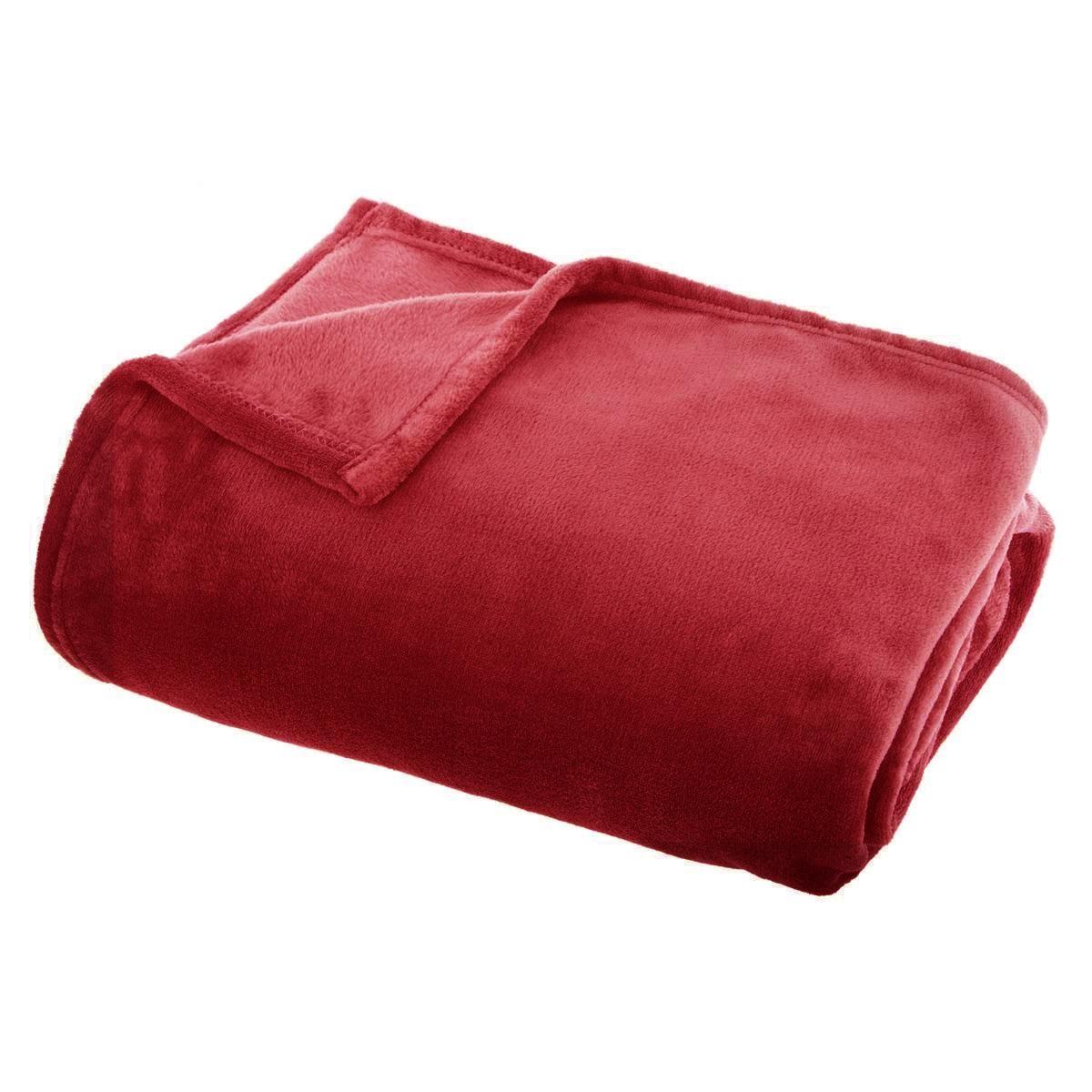 Plaid en flanelle colorée (Rouge)