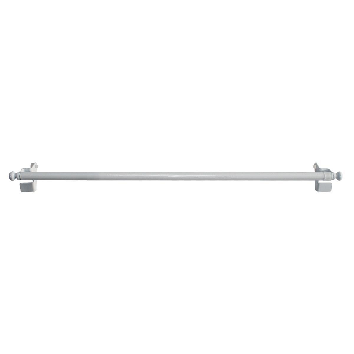 Tringle Extensible de 9 mm à Fixation Rapide - Blanc - 30 à 50 cm