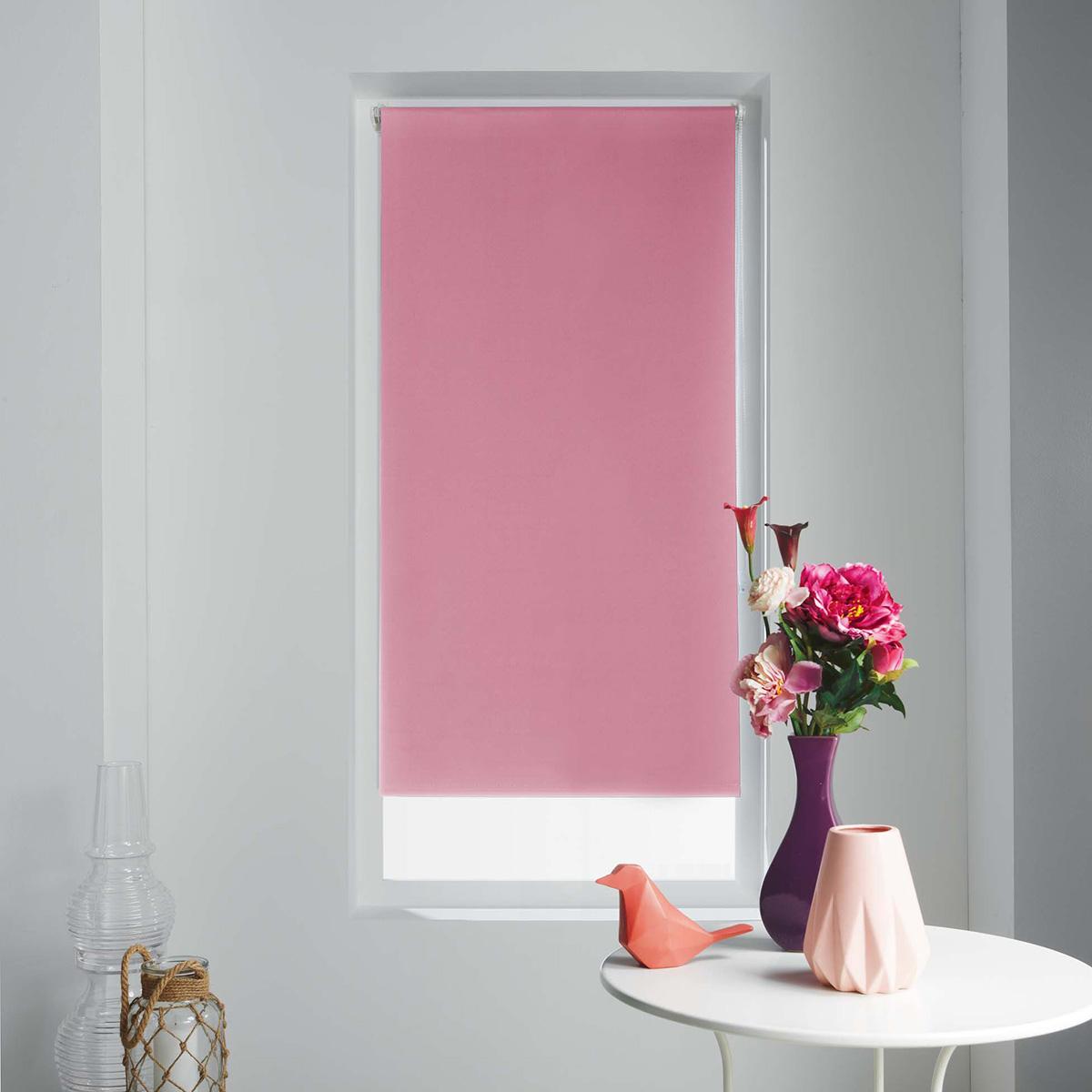 Store Enrouleur Occultant Uni et Coloré - Rose - 60 x 90cm