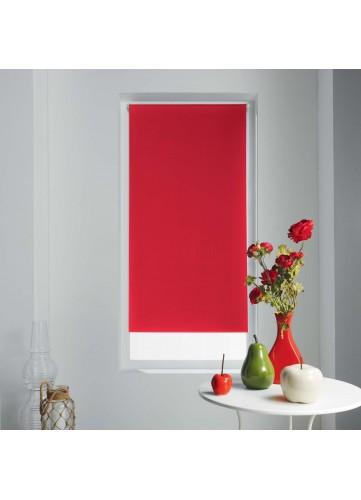 Store Enrouleur Occultant Uni et Coloré - Rouge - 60 x 90cm