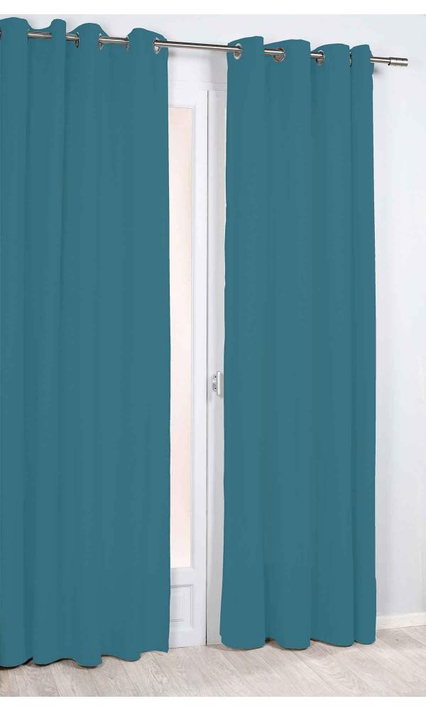 Rideau Uni et Tamisant - Bleu - 135 x 260 cm