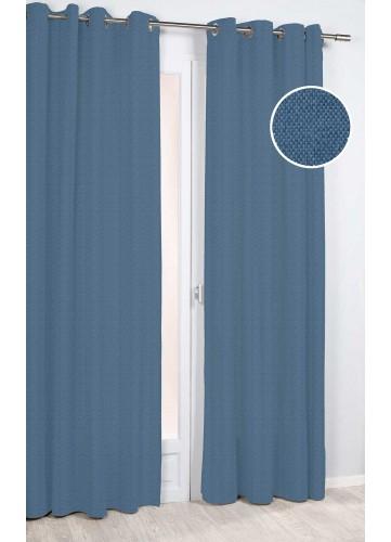 Rideau D'Ameublement à Petite Maille - Bleu - 140 x 260 cm