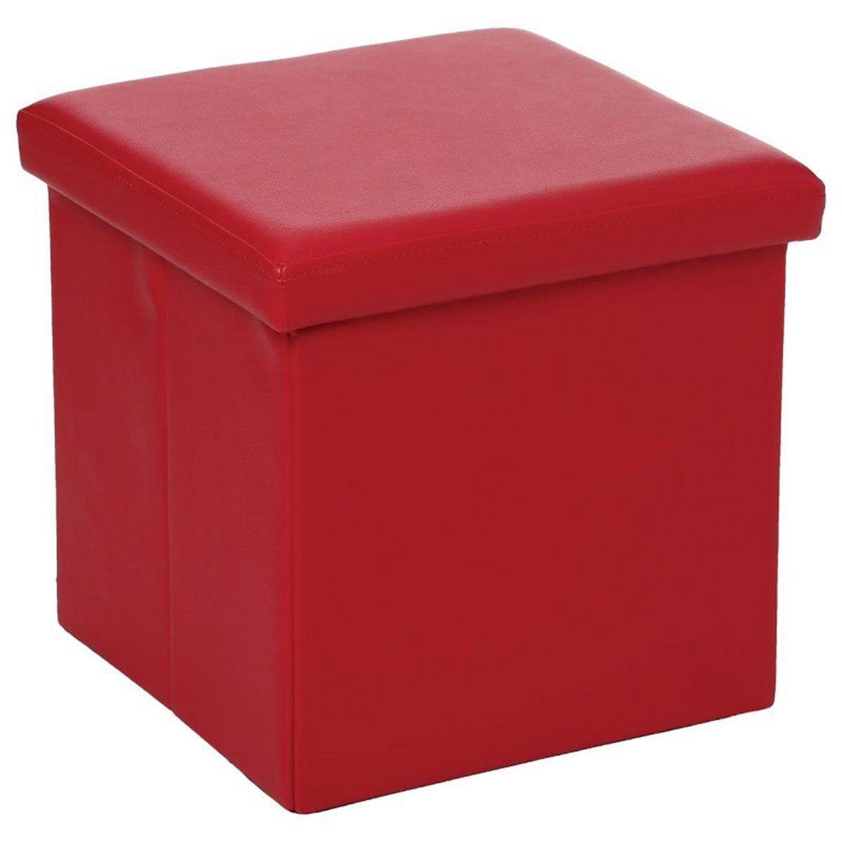 Pouf Pliable en PVC (Rouge)