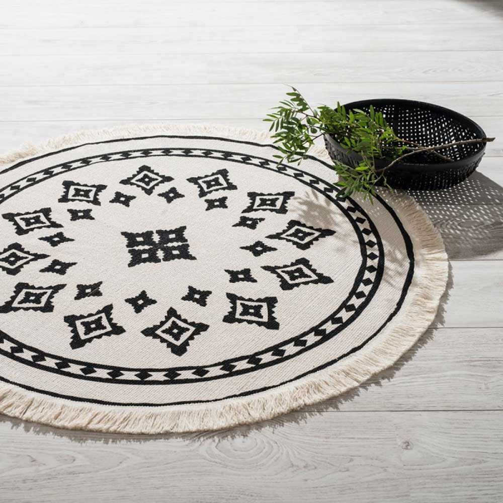 tapis rond frang esprit ethnique naturel homemaison vente en ligne tapis d co. Black Bedroom Furniture Sets. Home Design Ideas