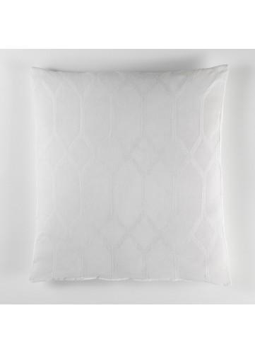 Grand Coussin Jacquard Bicolore - Blanc - 60 x 60 cm