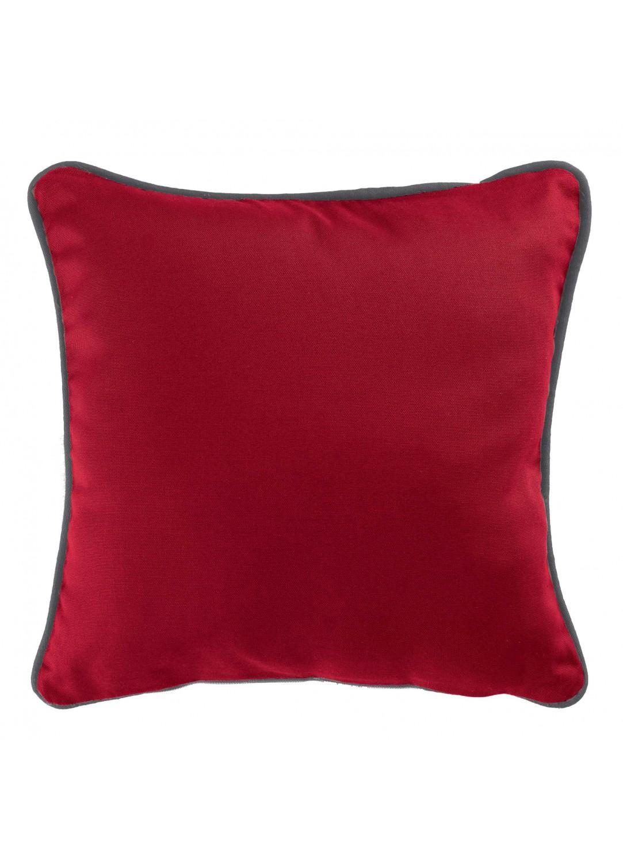 Housse de coussin color e rouge ardoise dragee blanc for Housse coussin rouge