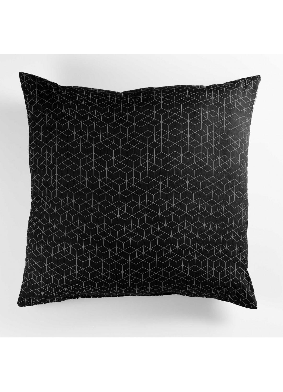 coussin esprit graphique noir blanc gris homemaison vente en ligne coussins standards. Black Bedroom Furniture Sets. Home Design Ideas