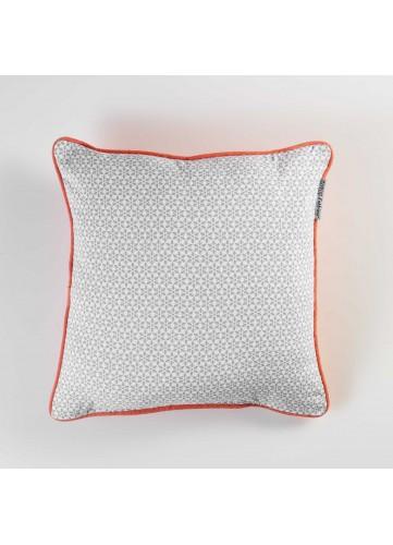 Coussin avec Motif Géométrique - Gris - 40 x 40 cm