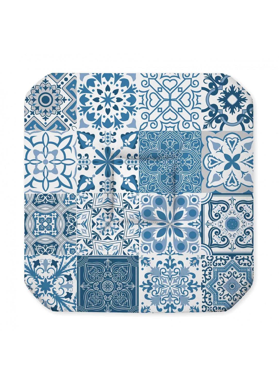 galette de chaise imprim e azulejos bleu gris homemaison vente en ligne galettes de. Black Bedroom Furniture Sets. Home Design Ideas