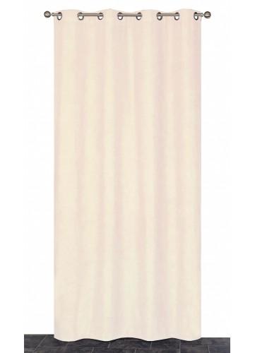 Rideau Coloré Isolant et Thermique - Beige - 140 x 240 cm