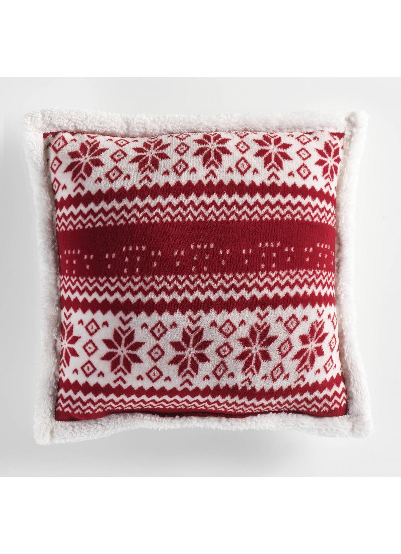 coussin esprit pull de no l rouge homemaison vente en ligne coussins standards. Black Bedroom Furniture Sets. Home Design Ideas